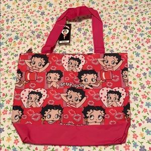 Betty Boop pink girly tote bag w/ attached wallet